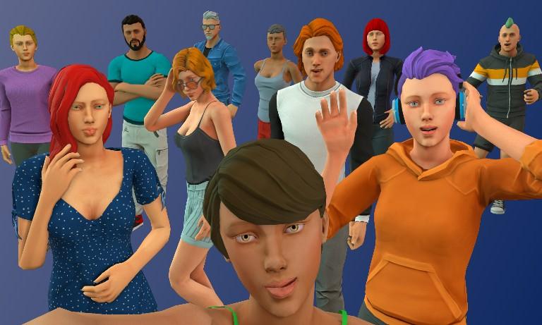eventos virtuales avatares