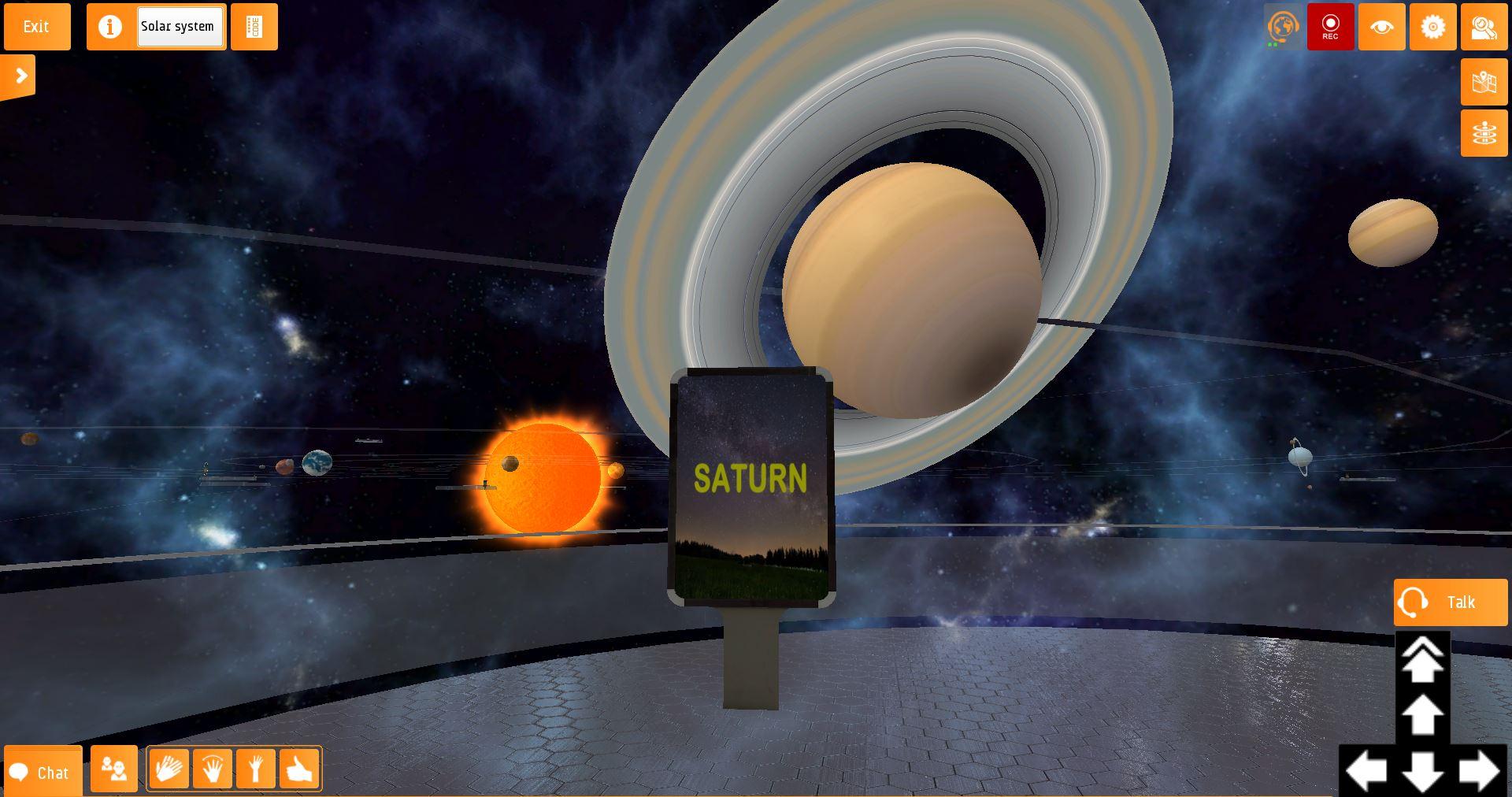 saturn virtual solar system