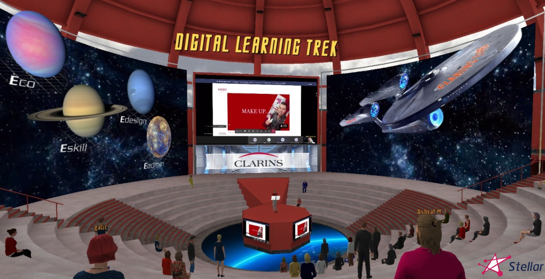 clarins-virtual-conference